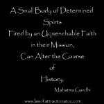 Gandhi Dertermination Quote
